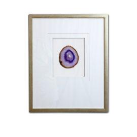 Framed Agate - Purple