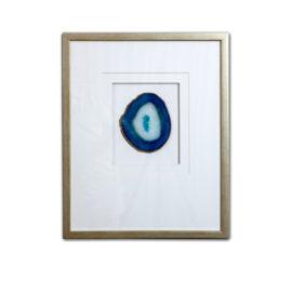 Framed Agate - Blue