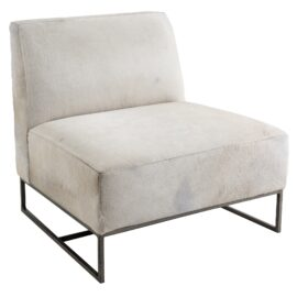 Toby Leather Chair - White