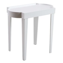 Leeza White Lacquer Rect. Table