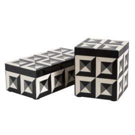 Deco Black & White Box