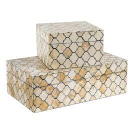 Mosaic Quatrefoil Box